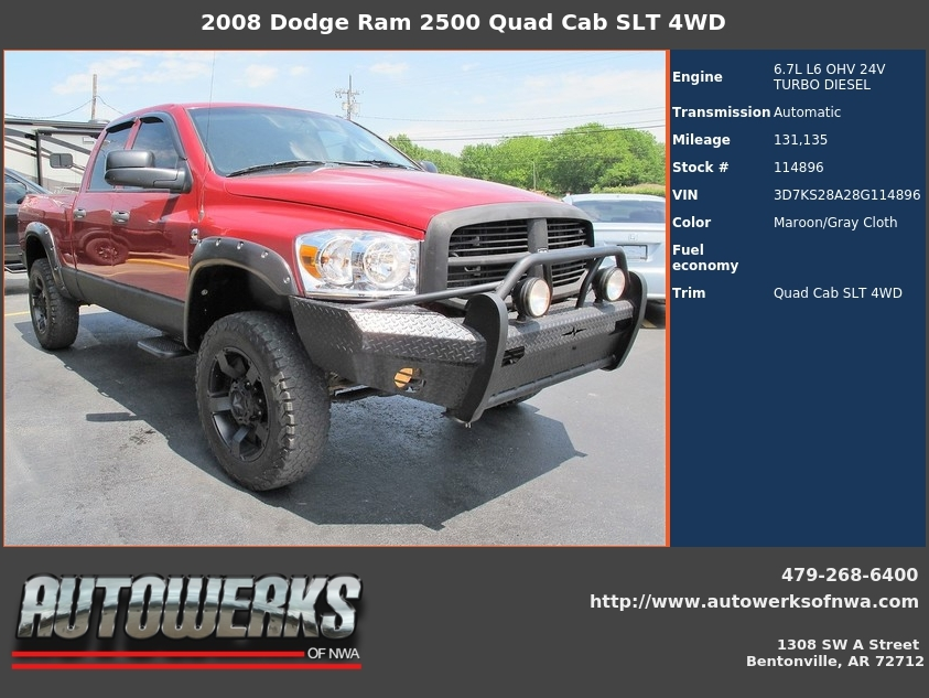 2008 dodge ram 2500 mpg