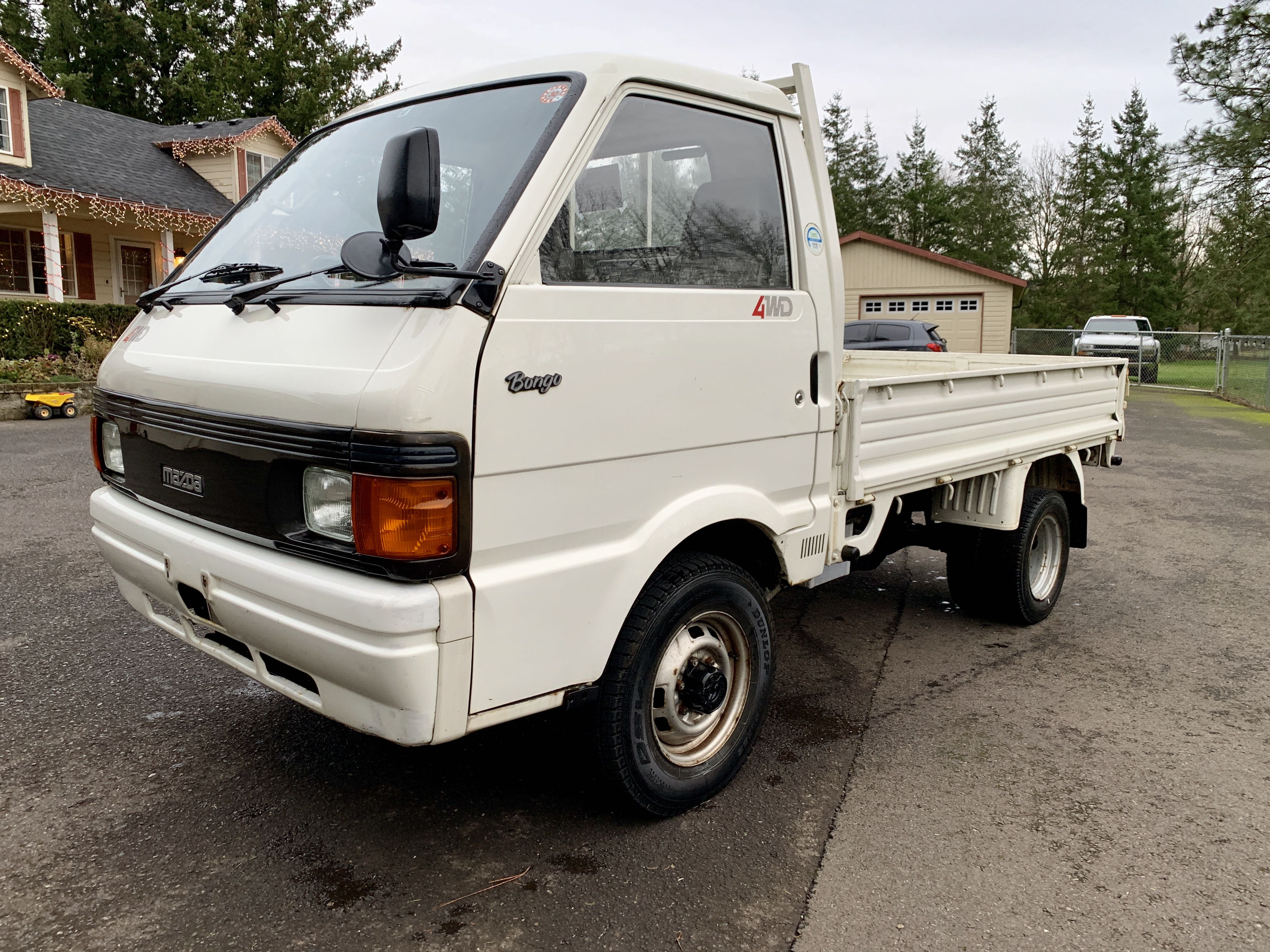 Boeki USA   Used 1993 White Mazda Bongo 2.2L Diesel For ...