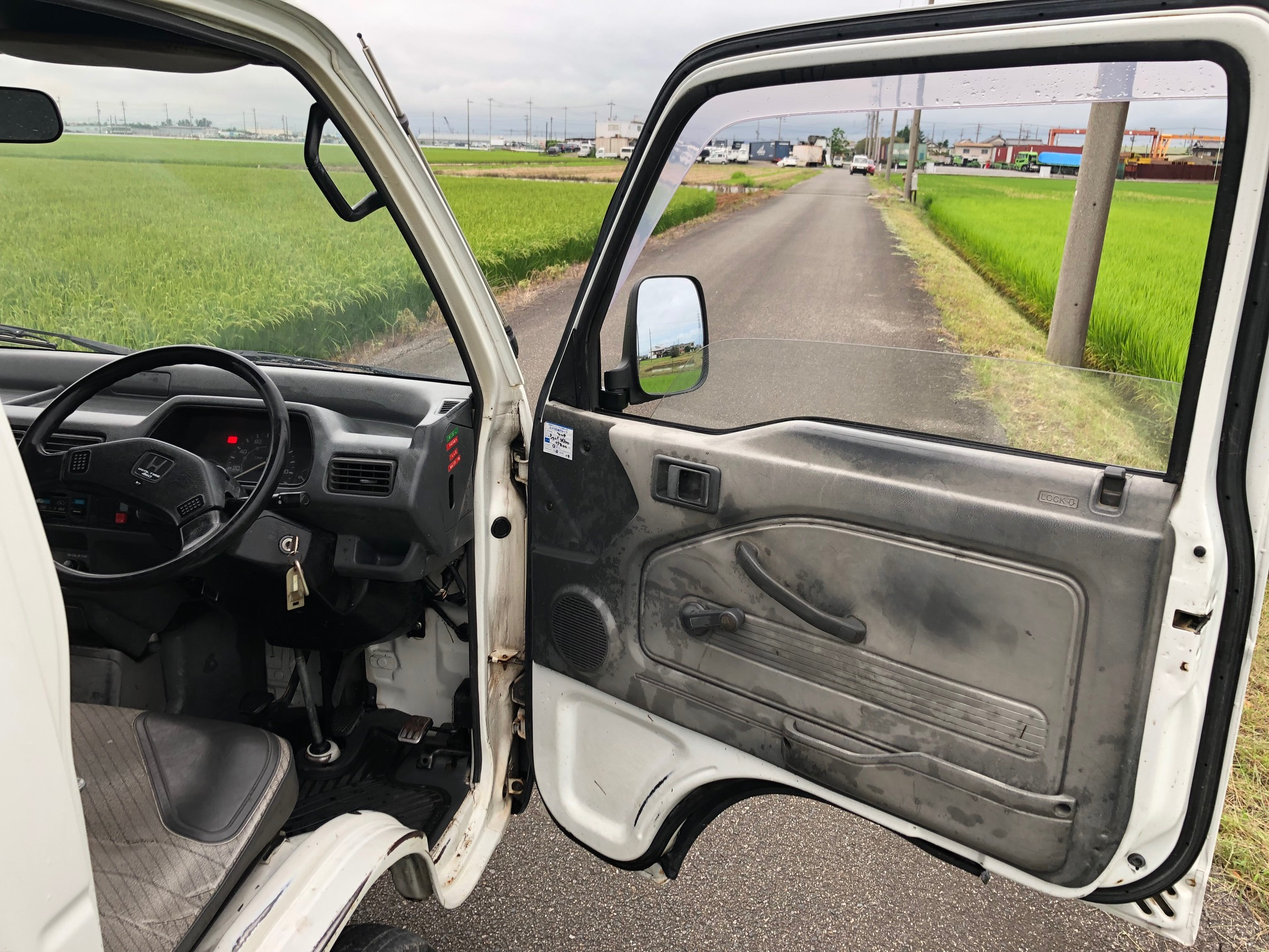 Boeki Usa Used 1995 White Honda Acty Attack Hard Dump